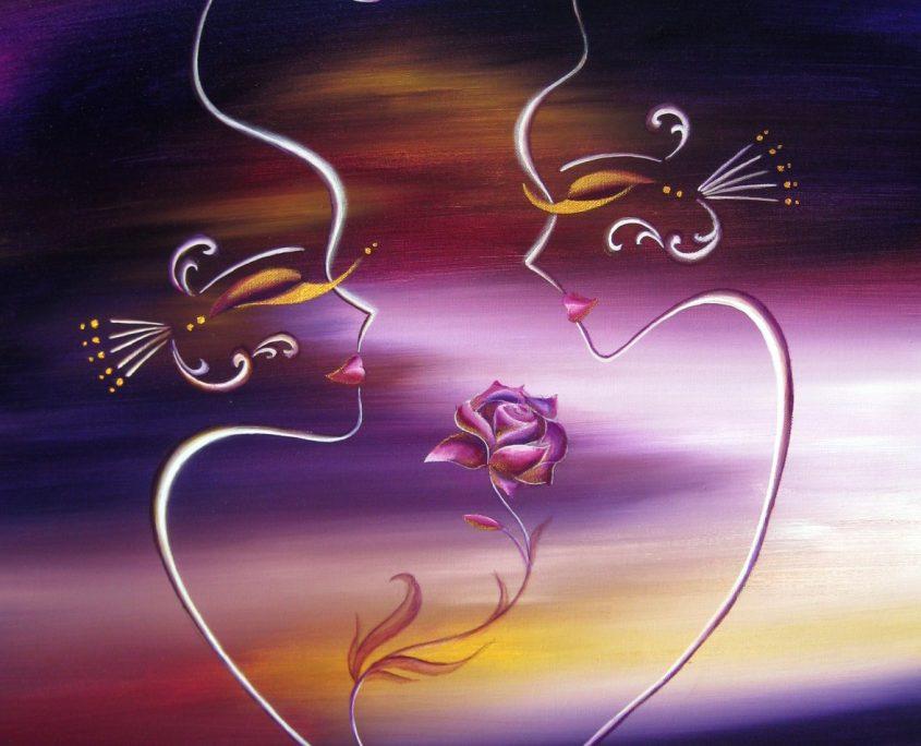 Autumn Love 1, Victoria Yin, Dec. 2009 age 12, acrylic on canvas 24 x 30