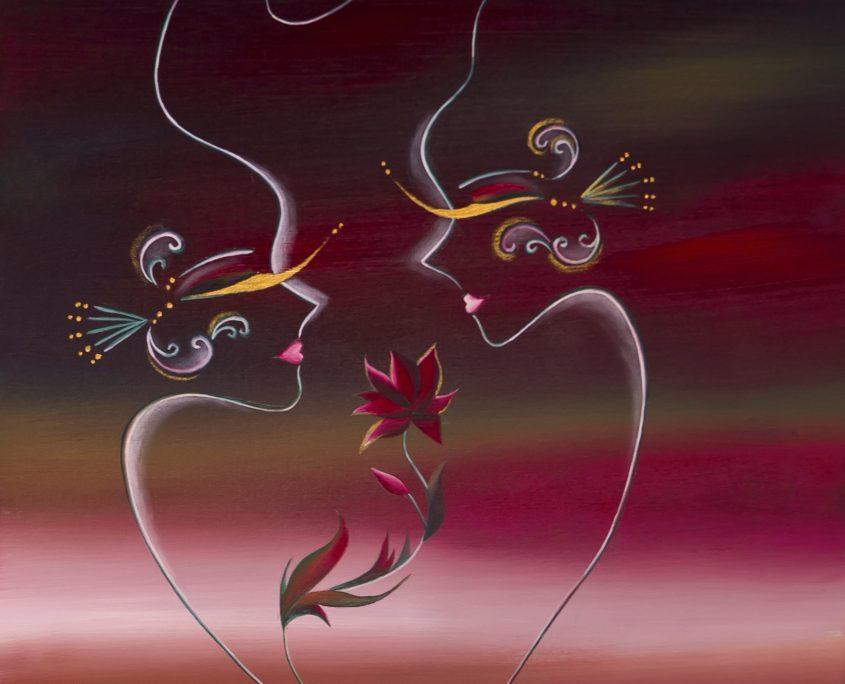Autumn Love 3, Victoria Yin, Dec 2009 age 12, acrylic on canvas 24 x 30