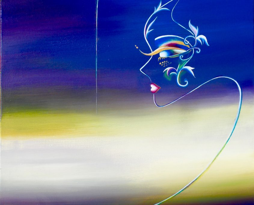 Epiphany, Victoria Yin, age 12, acrylic on canvas 30 x 40