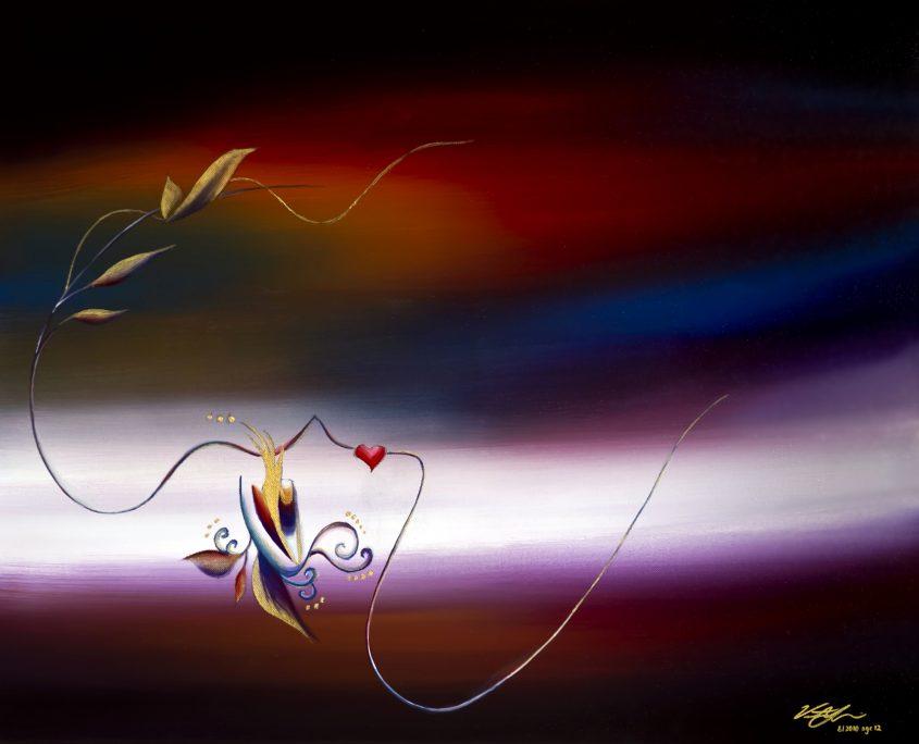 Horizon 2 - dusk, Victoria Yin, August 2010 age 12, acrylic on canvas, 24 x 30