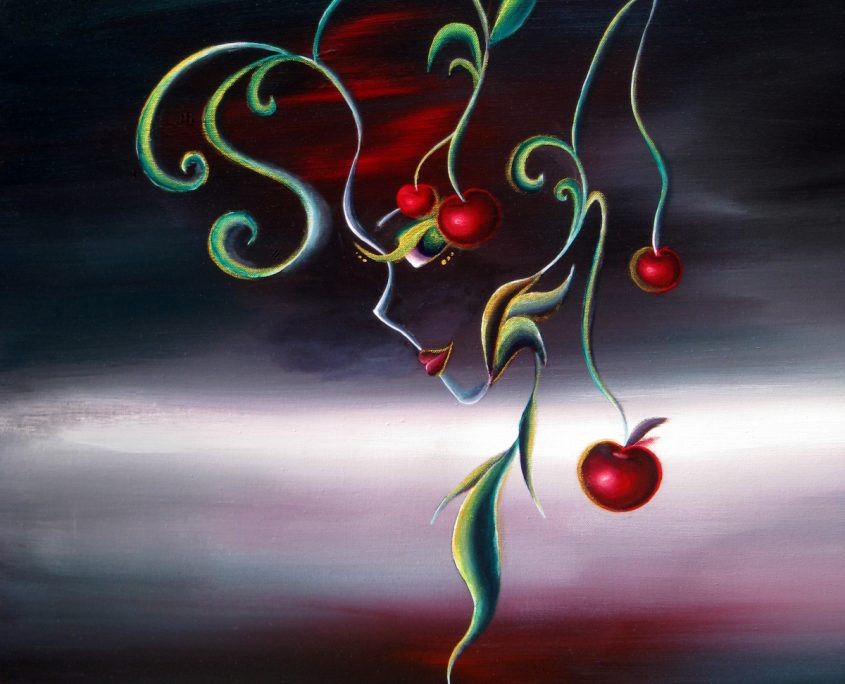 NO SIG) Season-Summer, Victoria Yin, age 11, acrylic on canvas 30 x 40