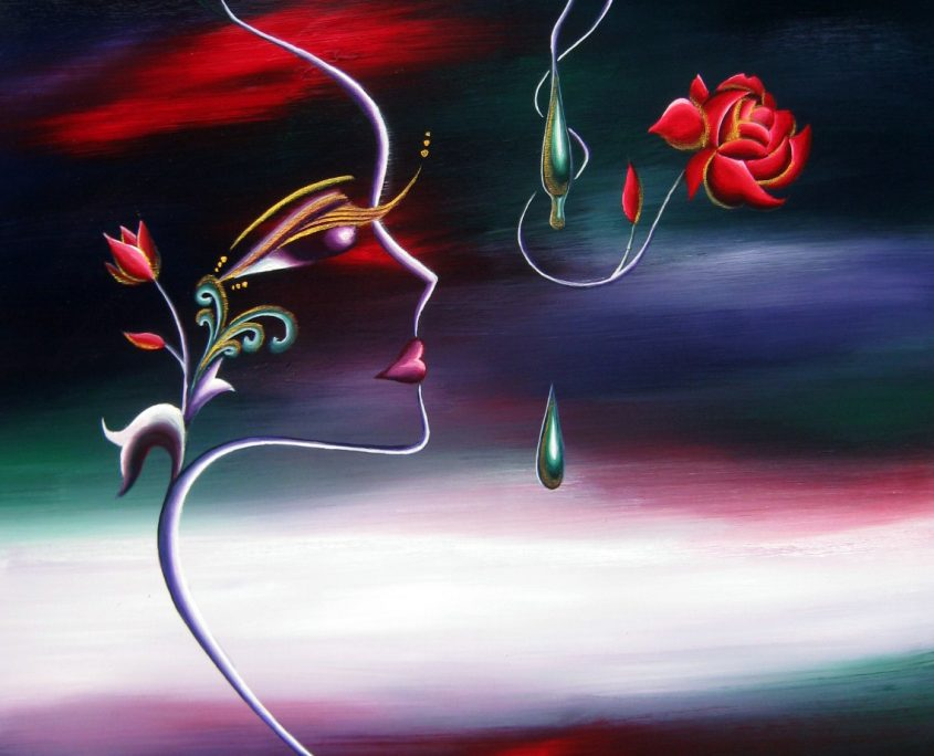 Season 3 -Autumn Red, Victoria Yin, Sept. 2009 age 11, acrylic on canvas, 30 x 40