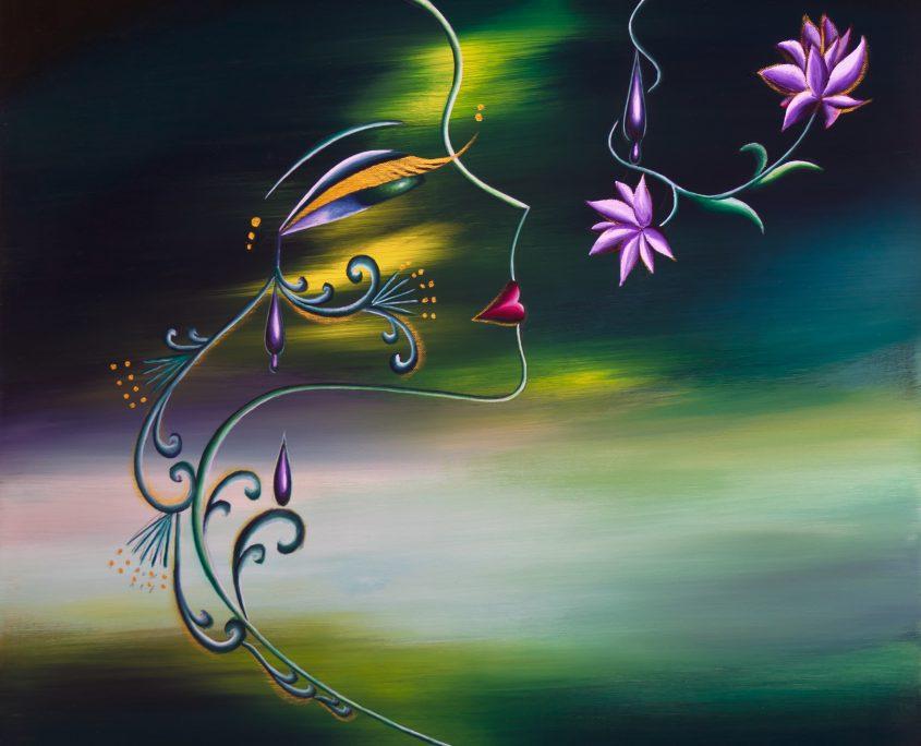 Season 6-Memories of Summer Night, Victoria Yin, Dec. 2009 age 12, acrylic on canvas 30 x 40
