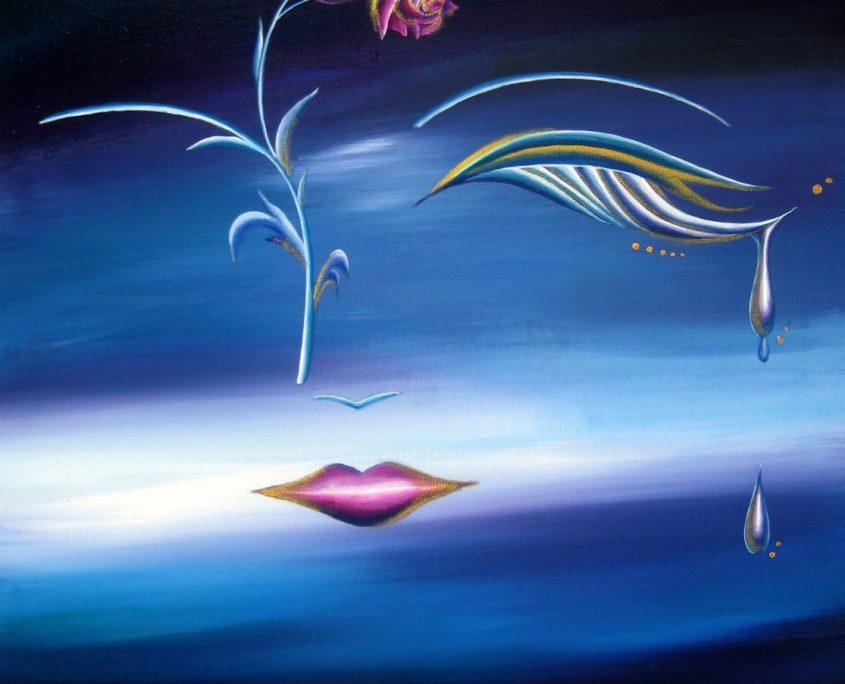 Season 7-Spring Rain, Victoria Yin, Dec. 2009 age 12, acrylic on canvas 24 x 30