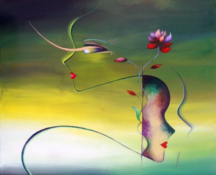 Seen.Unseen, Victoria Yin, Feb 2012 age 14, acrylic on canvas