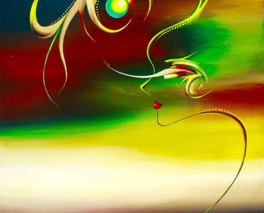 Temptation.Ball, Victoria Yin, 2012, acrylic on canvas, 30 x 40