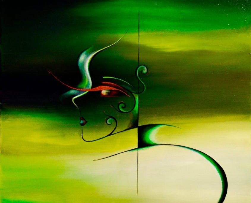 U i, Victoria Yin, 2012, acrylic on canvas, 30 x 40
