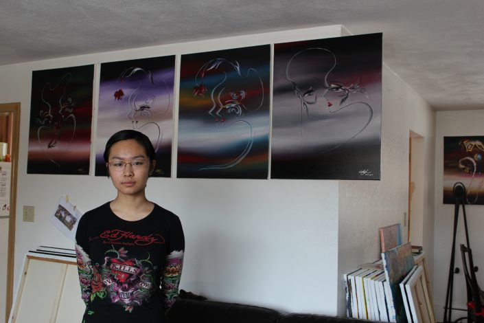 Victoria Yin in studio age 12