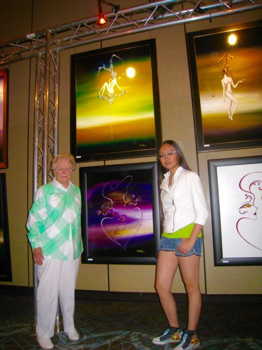 Victoria Yin with Mrs. Pajeska, Elite Art Events, Las Vegas 2010 age 12