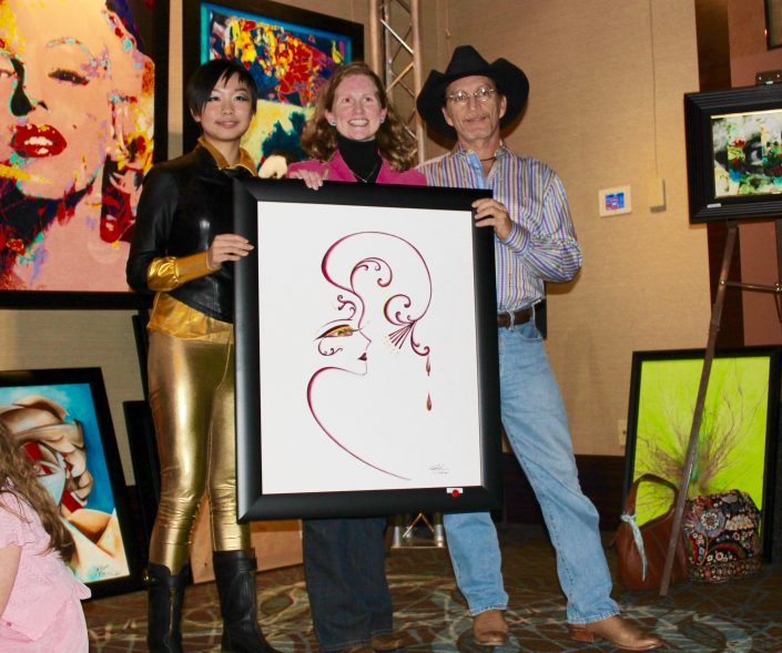 Victoria Yin with collector Ms. Larkin, 2010 age 12