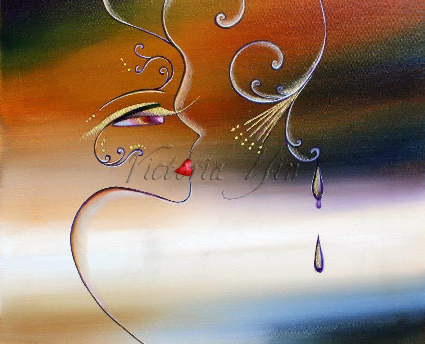 (NO SIG) Dusk 2, Victoria Yin, age 12, acrylic on canvas 30x40