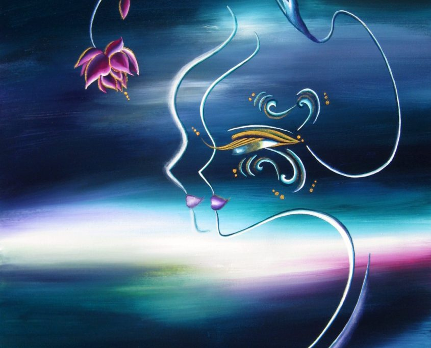 Wondrous Existence-Sea, Victoria Yin, age 12, acrylic on canvas 24 x 30